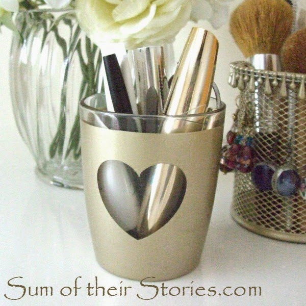 Gold heart pot tutorial