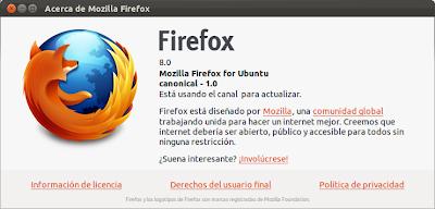 Firefox 8 en Ubuntu 11.10