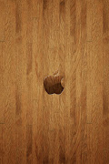 wooden apple iphone,android wallpaper