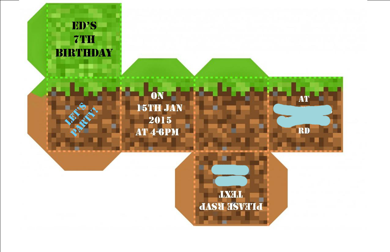 Strawberry Meets World tbt Eds Minecraft Party Invite