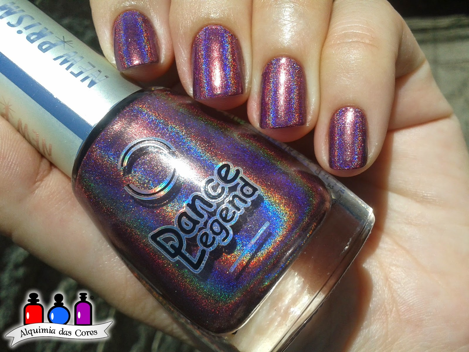 Dance Legend, Roxo, Holográfico, Optical Illusion, Caminie, esmalte, esmalte importado, nail polish