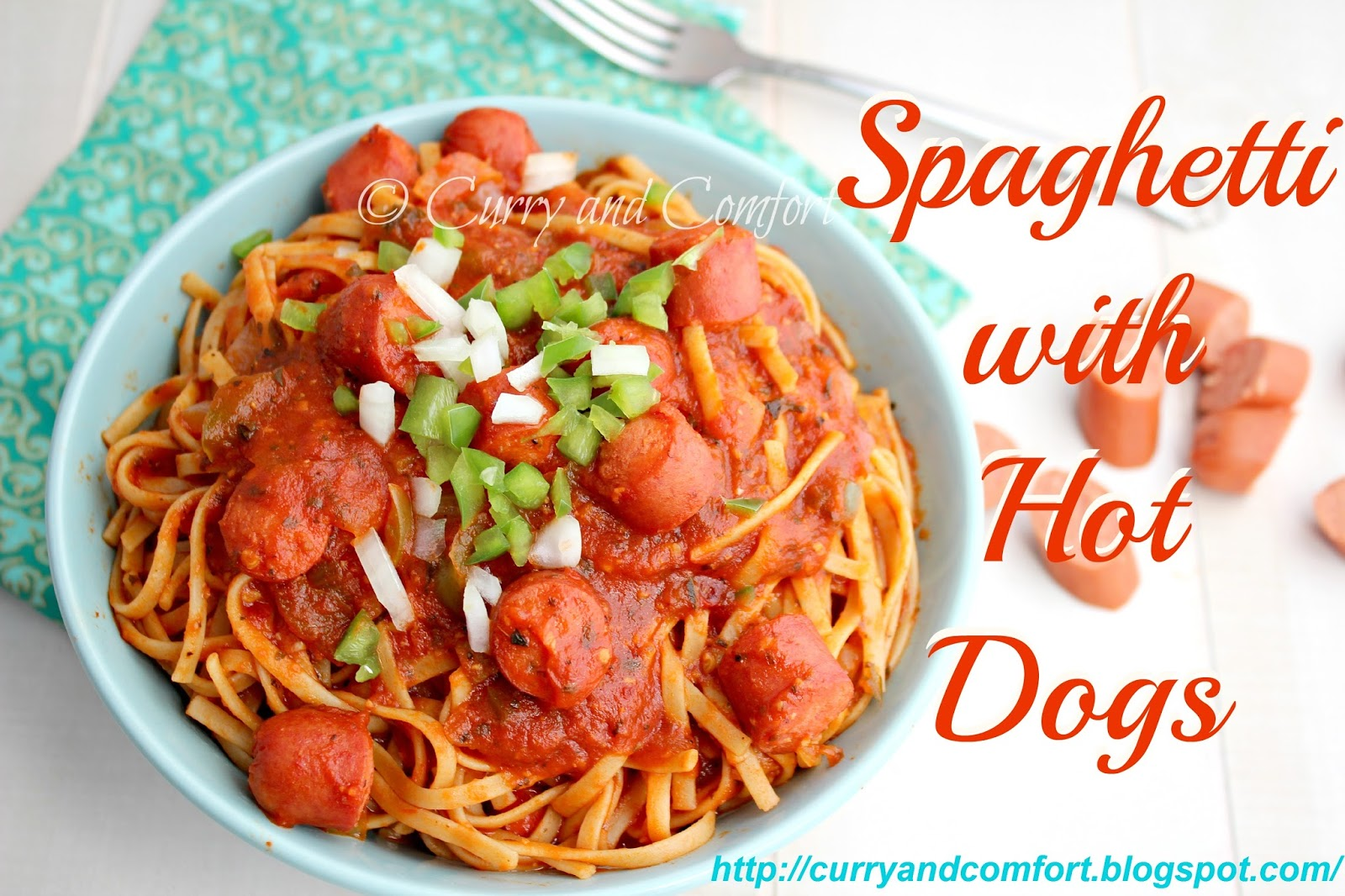 Spaghetti Bolognese With Hot Dogs
