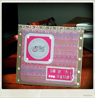 It's a girl! – kartka z gratulacjami
