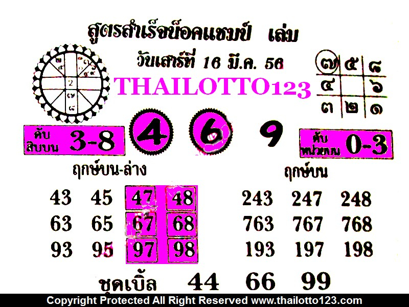 Movies watch english movies promo 2013: 16-3-2013 HOT NEW THAI LOTTO