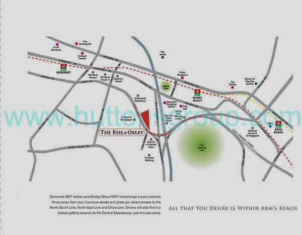The Rise @ Oxley Residences Location Map