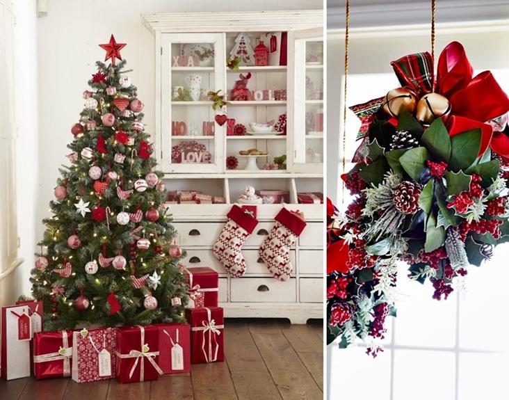 Decorar un arbol de navidad blanco decorar un rbol de navidad blanco sala a lo largo de la - Como decorar mi arbol de navidad ...