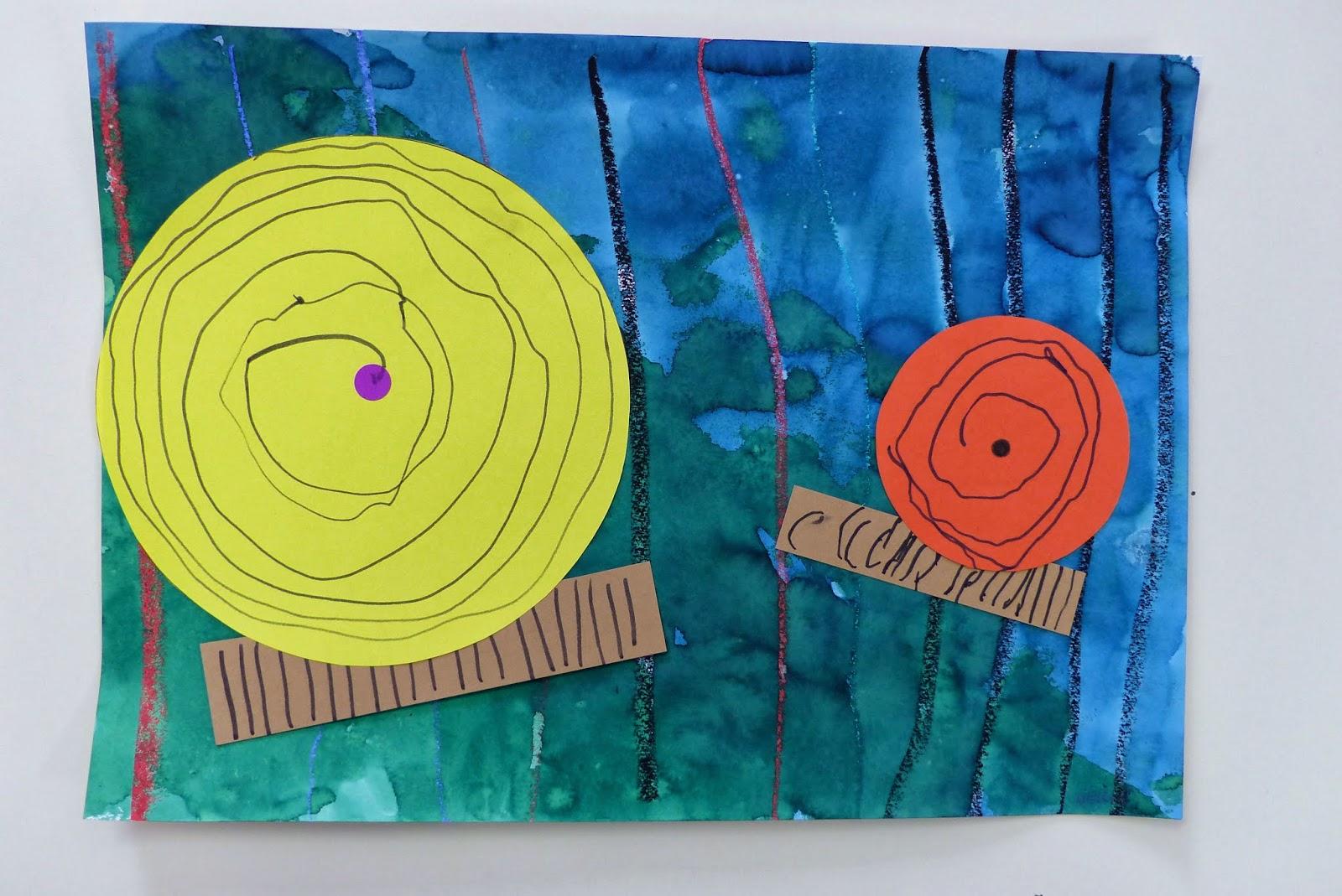 escargots en graphisme et peinture en PS