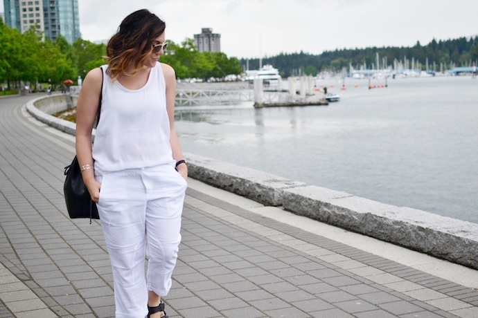 Gap Factory linen pants Vancouver blogger Covet and Acquire outfit