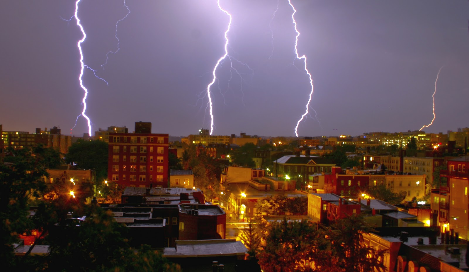 big cities lightning storm