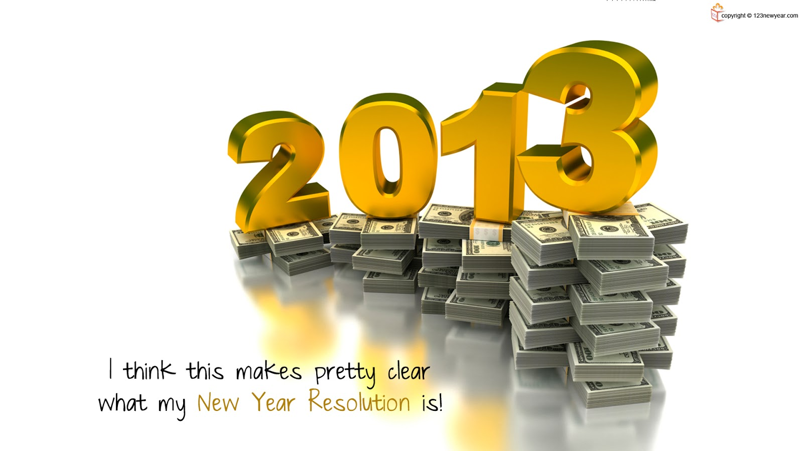 Happy New Year 2013 Wallpapers 3D