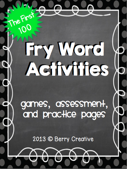 http://www.teacherspayteachers.com/Product/Fry-Word-Activities-The-First-100-442065