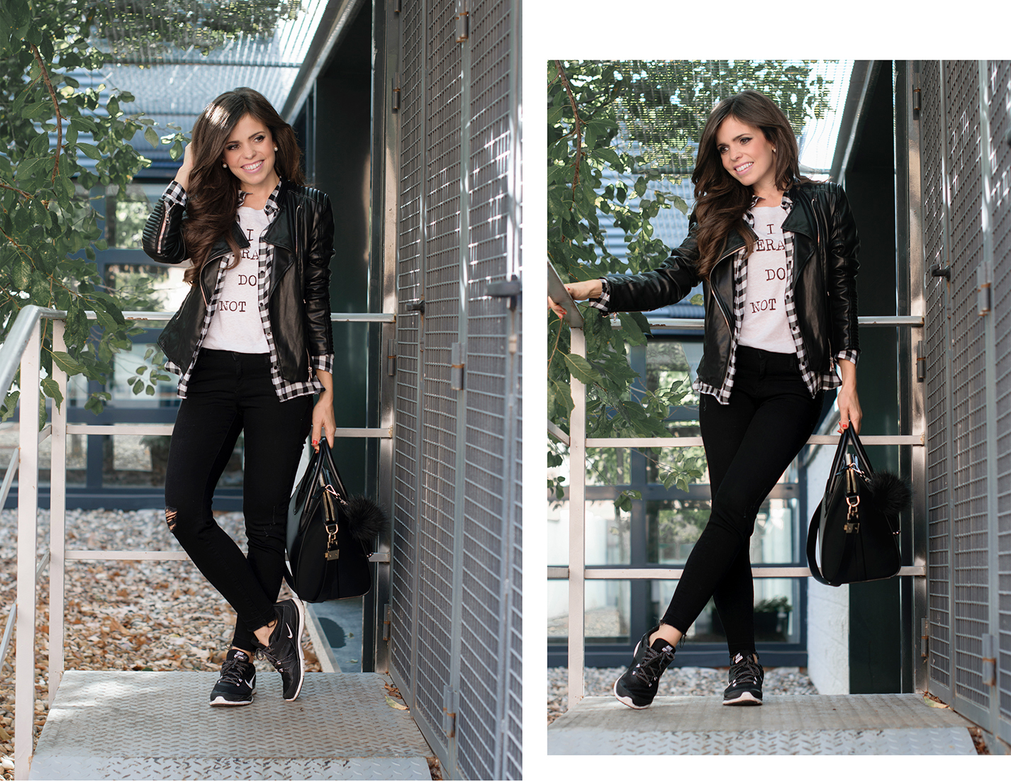 Look sporty-chic con sneakers nike