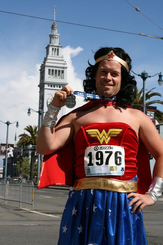100th Bay to Beakers Wonder Woman medal