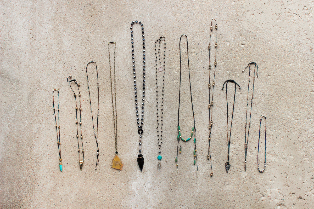 men's necklace collection by Quiet Lion Creations.