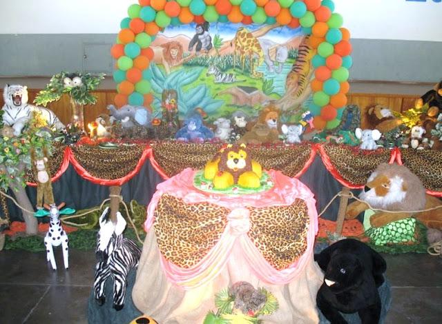 Tema Floresta para festa infantil