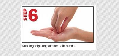 langkah keenam telapak tangan