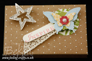 Beautiful Boxes containing a Sparkly Star - a gift from Stampin' Up! Demonstrator to the members of her team who attended Stampin' Up! Training - find out how you could become one of them here - it sounds fab!
