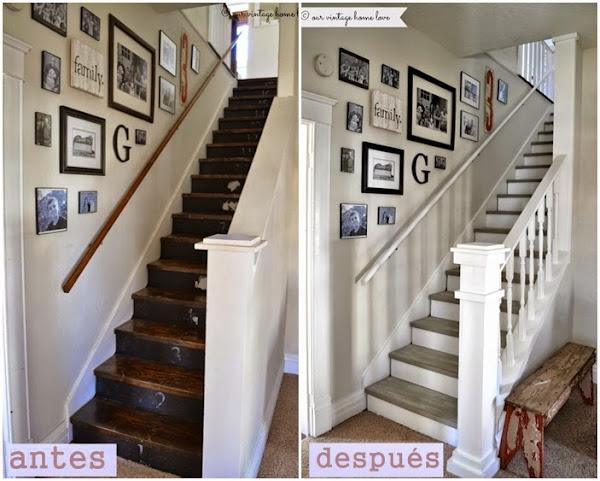Reformas antes y despues decorar tu casa es - Escaleras blancas ...