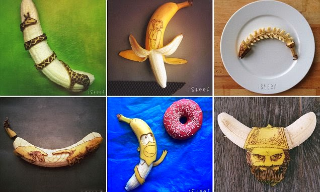 صورة مجمعة لفن الموز