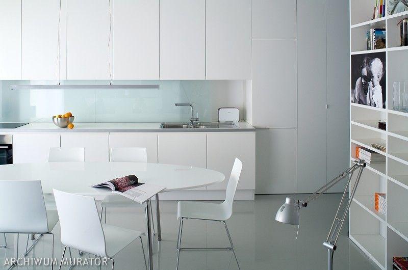 NOWOCZESNA ARCHITEKTURA biała kuchnia -> Kuchnia Biala Do Sufitu
