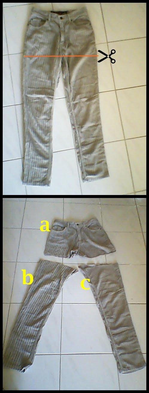 Gunting celana seperti gambar.