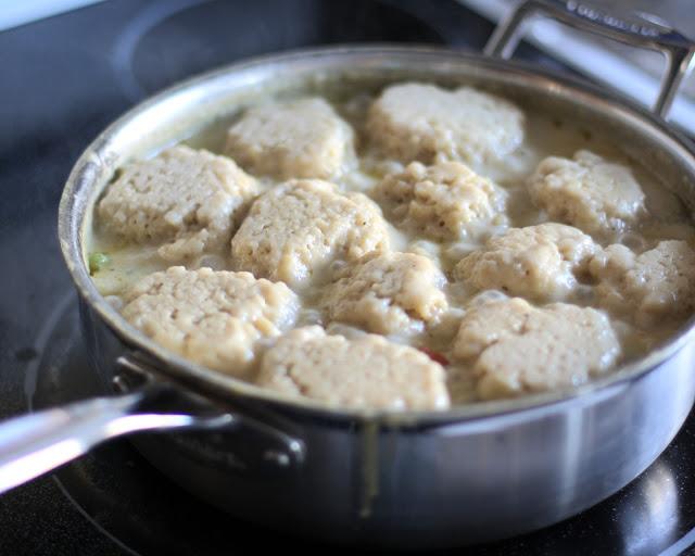Chicken & Dumplings, Butter with a Side of Bread