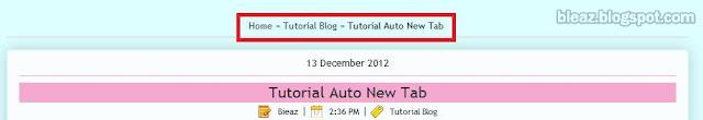 Tutorial Breadcrumb Di Blogspot