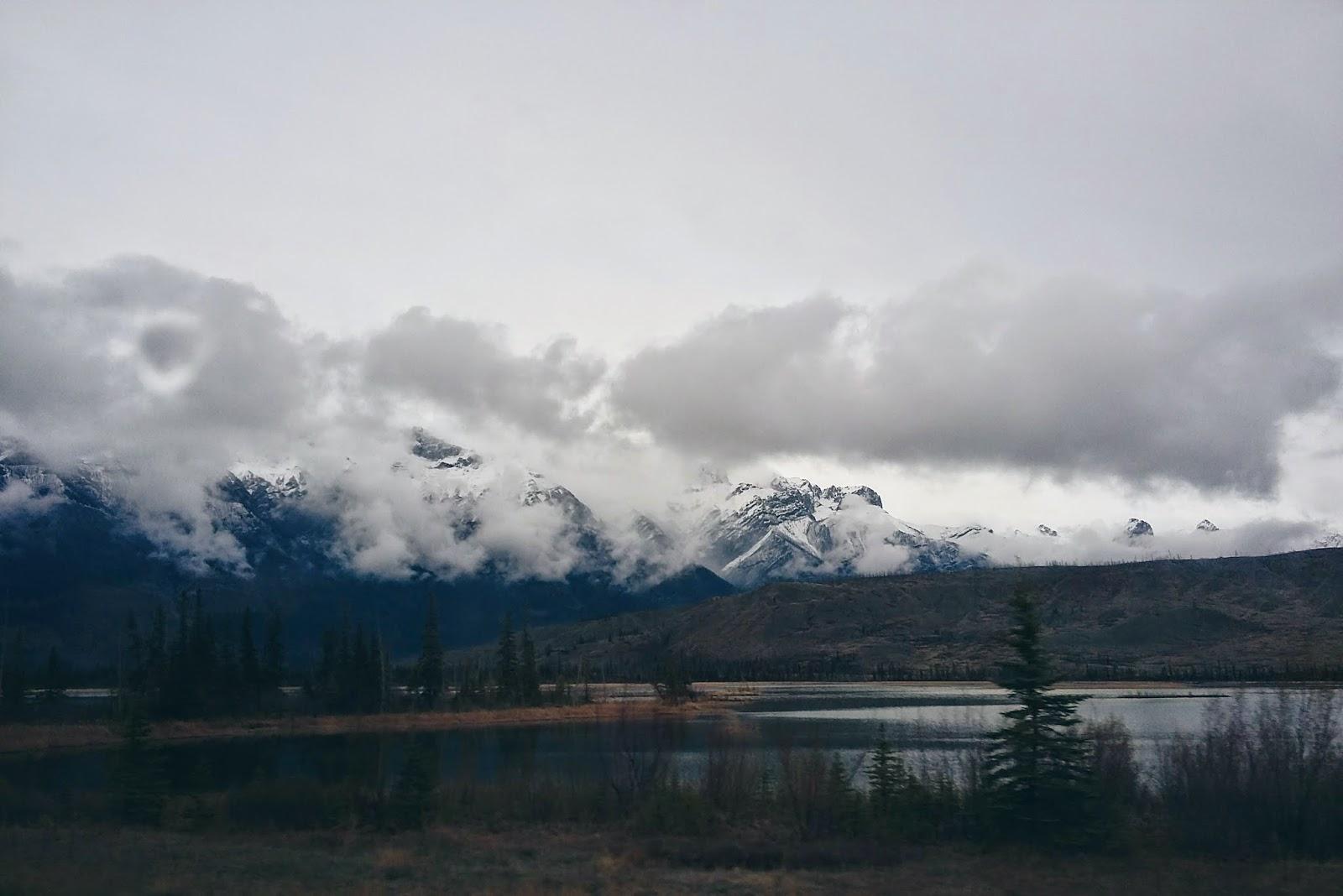 Gloomy day in Jasper National Park