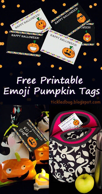 Collage of different uses for Halloween tags