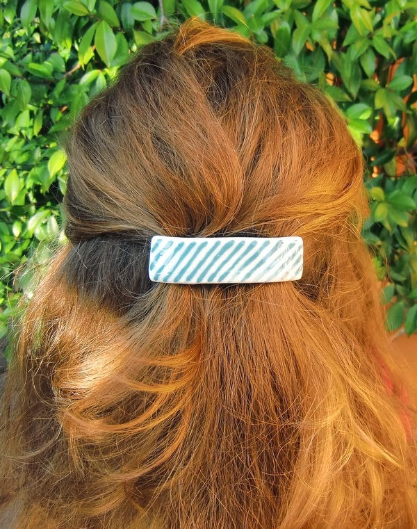 https://www.etsy.com/listing/89000210/blue-striped-porcelain-hair-clip-with