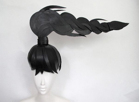 Paper Wigs Art by Nikki Salk and Amy Flurry