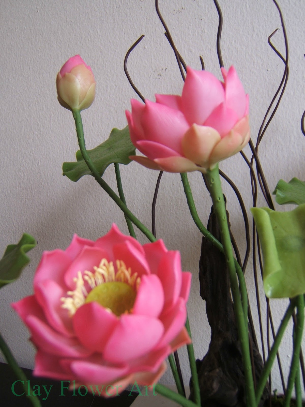Lotus clay flower art i usually make clay flowers with japanese luna clay but for the lotus above i used thai clay only mightylinksfo