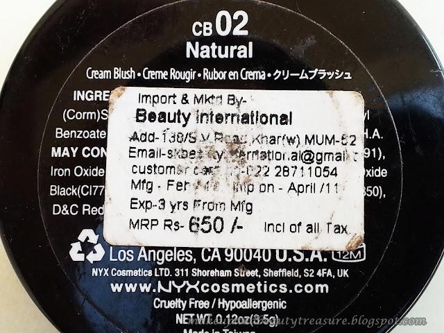 NYX Rouge Cream Blush Natural