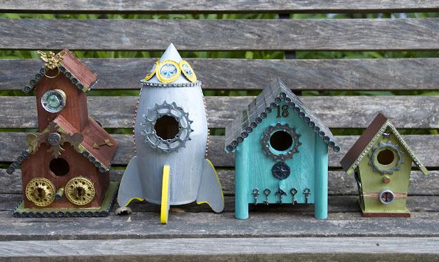 Steampunk Birdhouses