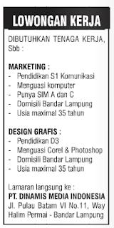 Lowongan Kerja PT Dinamis Media Indonesia
