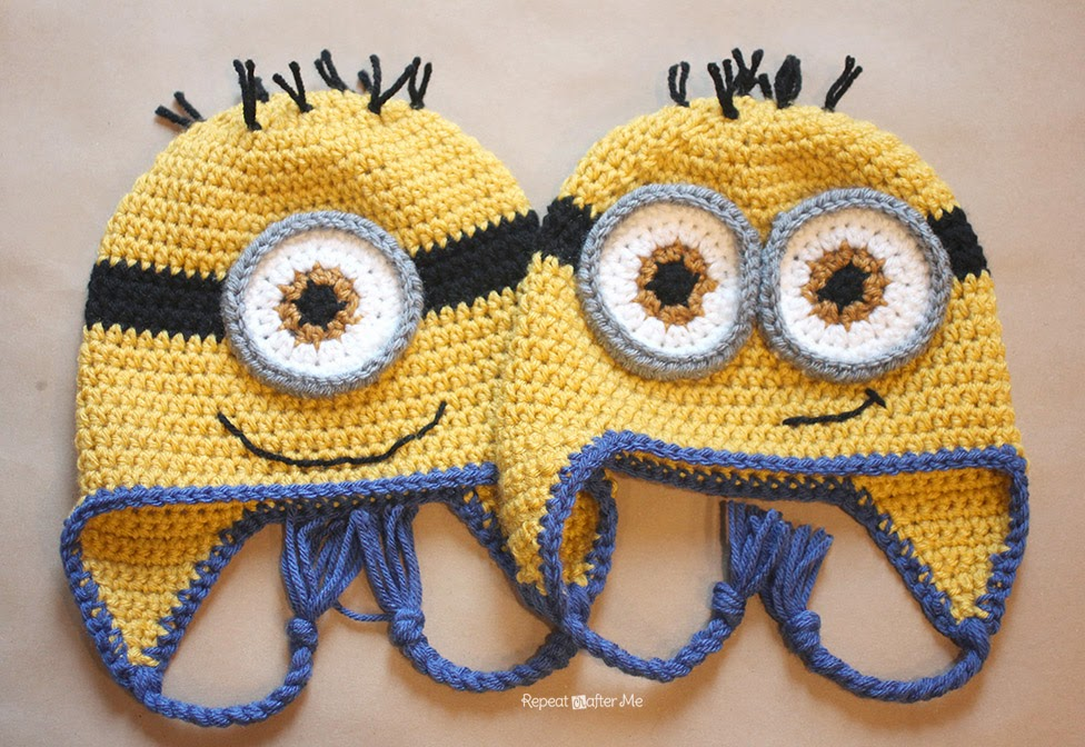 Crochet Minion Hat Pattern Repeat Crafter Me Bloglovin