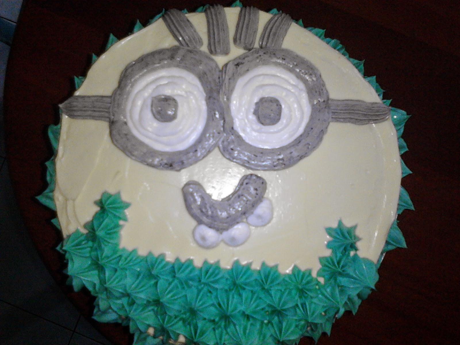cakes,kek birthday minion