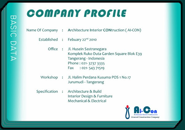 Architecture Interior CONstruction: COMPANY PROFILE