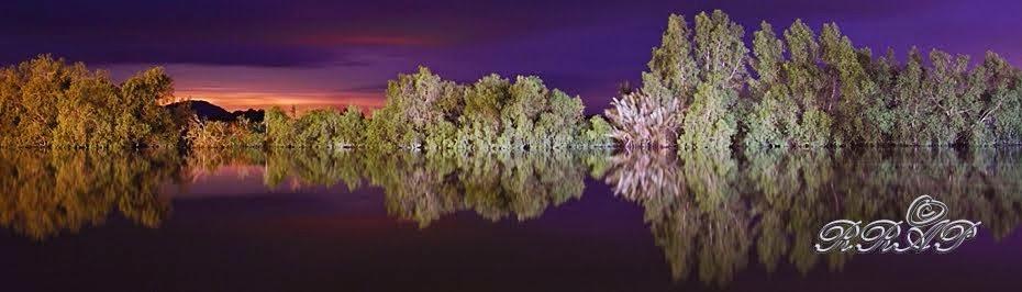 Night View Of Batang Kayan River, Lundu, Sarawak, Malaysia.