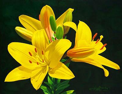 pinturas-realistas-flores