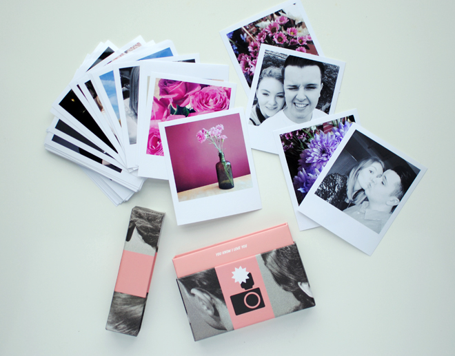Valentines day photo gifts hello gwen the cheerz love box is 16 around 12 for thirty 3x4 polaroid style photos theyre printed on to glossy fujifilm photo paper and you can change the negle Image collections