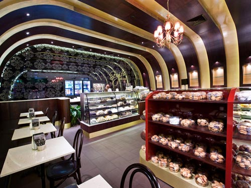 Bakery Cakes Shop Design With Curve Interior