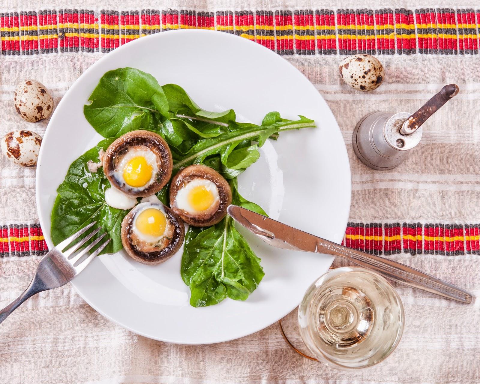Гъби с пъдпъдъчи яйца