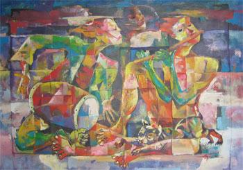 contoh gambar kubisme...
