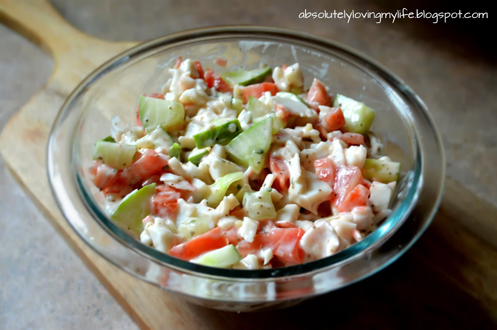 Years ago, I made my own version of a crab salad, using imitation crab ...