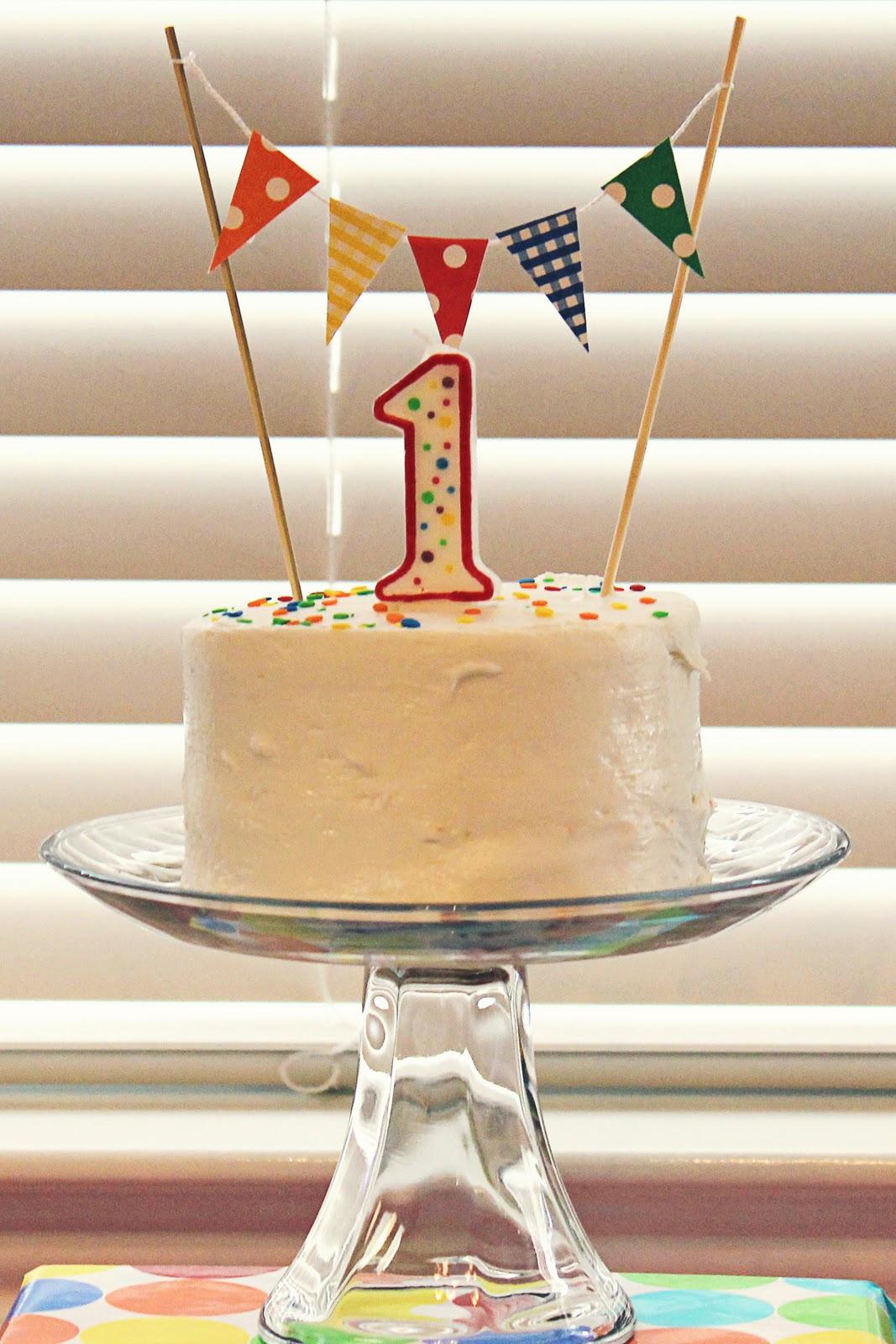 First Birthday Cake Boy Simple