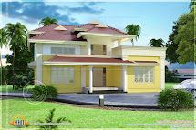 Beautiful Villa Elevation 2350 Square Feet - Kerala Home