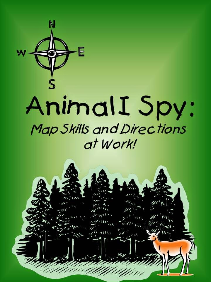 http://www.teacherspayteachers.com/Product/Animal-I-Spy-Map-Skills-Activity-1211381