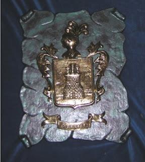 escudos heraldicos realizados con bronce fundido