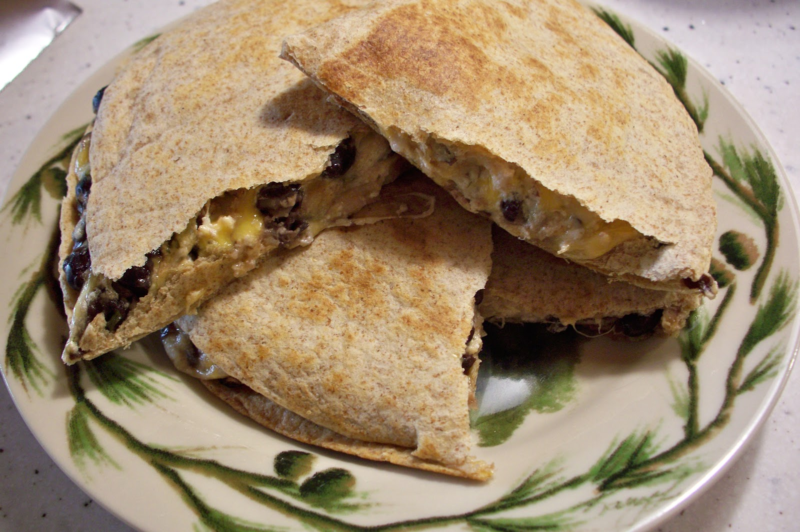 THE FOOD OF LOVE: BLACK BEAN AND GOAT CHEESE QUESADILLAS